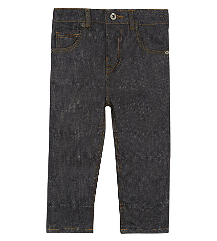 BURBERRY Relaxed cotton denim jeans 6-36 months (Darkindigo