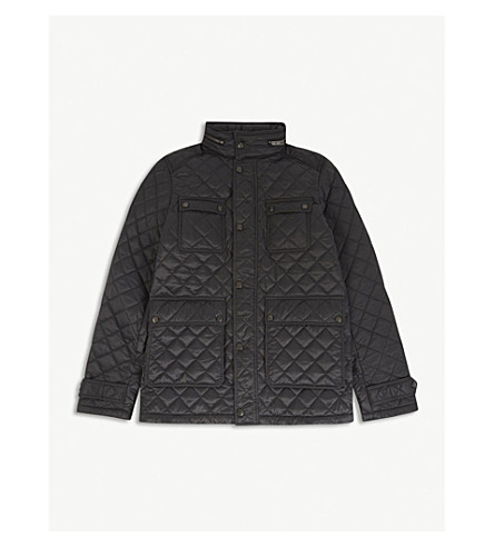 BURBERRY Halesworth quilted jacket 6-14 years (Dark+grey