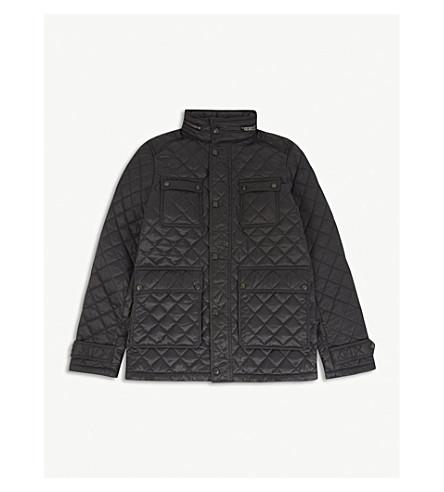 BURBERRY 黑尔沃斯绗缝夹克6-14 年 (暗 + 灰色
