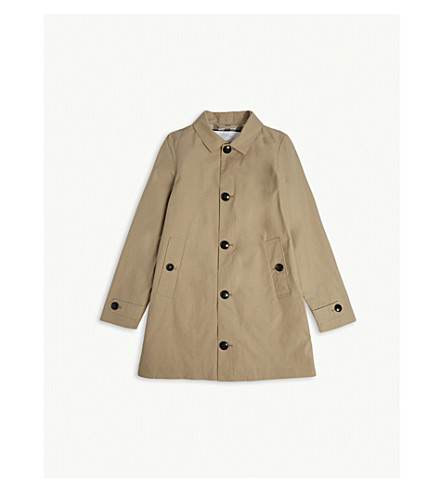 BURBERRY Bradley cotton trench coat 4-14 years (Honey