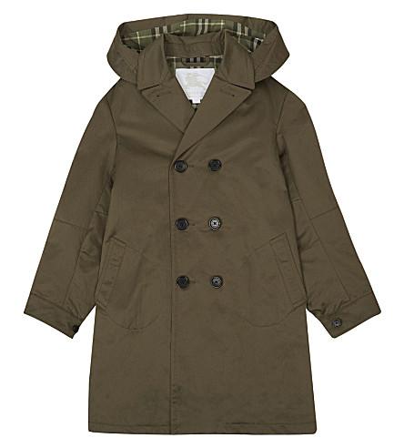 BURBERRY Davey trench coat 4-14 years (Dark+olive