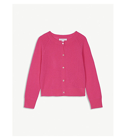 BURBERRY Neon cashmere cardigan 4-14 years (Neon+pink