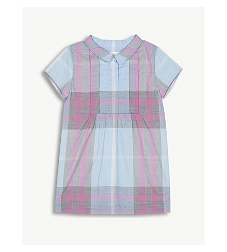 BURBERRY Taylor check cotton dress 6-36 months (Short+blue