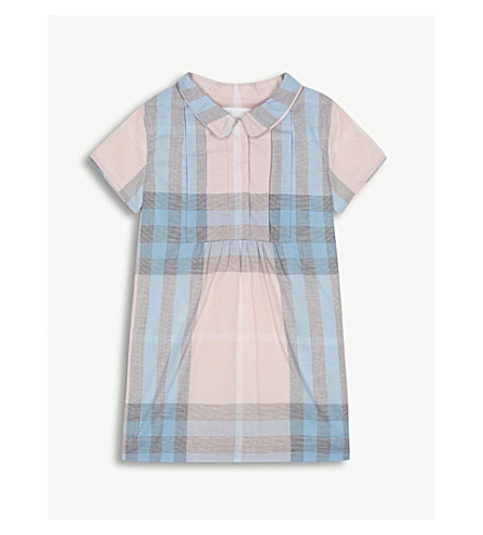 BURBERRY Taylor check cotton dress 6-36 months (Ice+pink