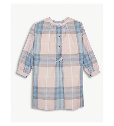 BURBERRY Mini Lola check cotton dress 4-14 years (Ice+pink