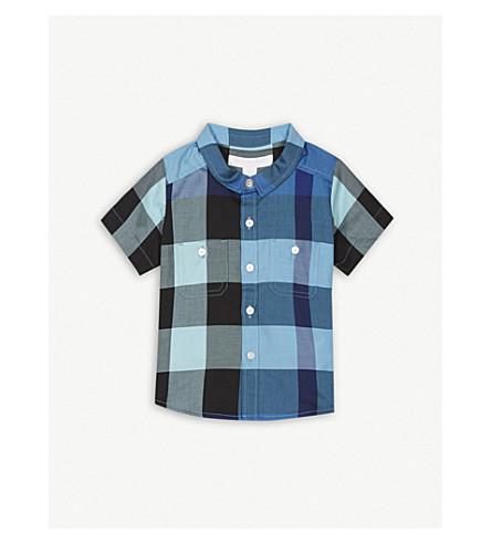 BURBERRY Check print shirt 6-36 months (Lightazure