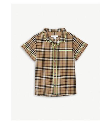BURBERRY Carney checked cotton shirt 4-14 years (Camel