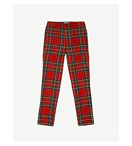 BURBERRY Benroy tartan wool trousers 4-14 years (Bright+red