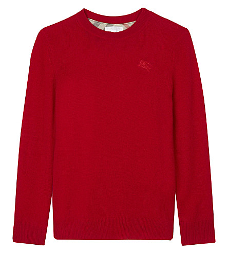 BURBERRY Durham cashmere jumper 4-14 years (Parade+red