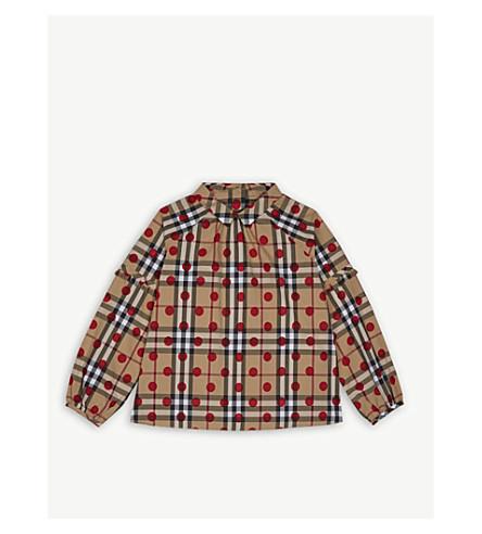 BURBERRY Haleena cotton shirt 4-14 years (Parade+red