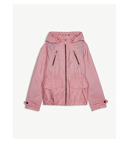 BURBERRY Halle hooded jacket 4-14 years (Peony+pink