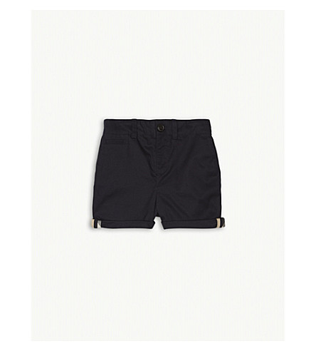 BURBERRY Tina check trim cotton shorts 9-36 months (Ink