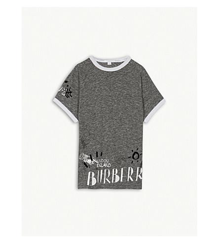 BURBERRY SW1 graphic cotton T-shirt 4-14 years (Dark+grey+melange