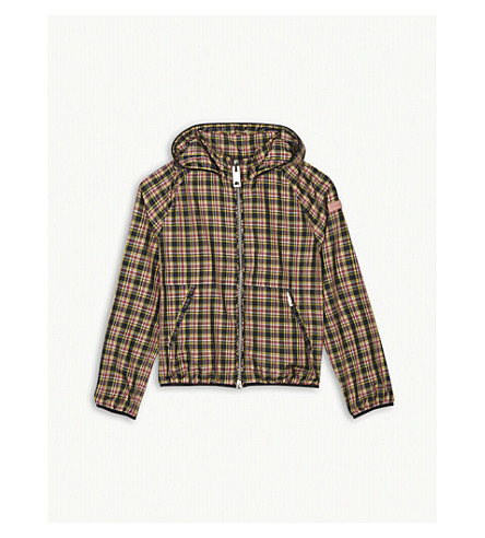 BURBERRY Brenty check hooded jacket 4-14 years (Bright+pink
