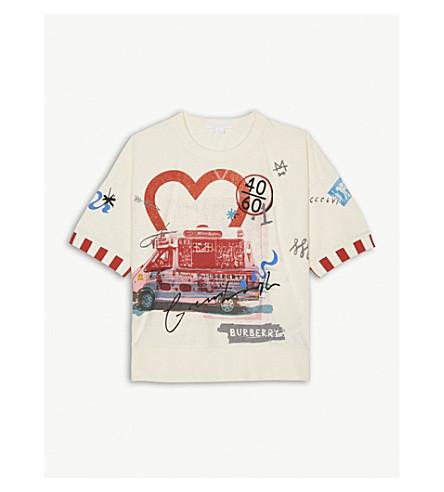 BURBERRY Ice-cream print cotton T-shirt 4-14 years (Chalk+white