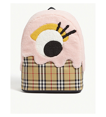 BURBERRY - Monster motif vintage check backpack   Selfridges.com 7e92e9a719