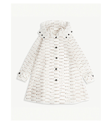 BURBERRY Archive logo transparent hooded raincoat 8-14 years (Multicolour