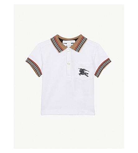 Burberry Logo Pocket Cotton Polo Shirt 6 24 Months Selfridges Com