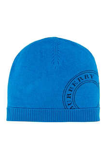 BURBERRY Knitted stamp beanie
