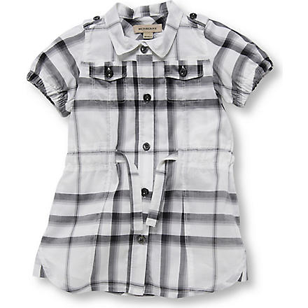 BURBERRY Checked dress 3 months-3 years (Black