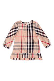 BURBERRY Checked frill dress 3 months - 3 years