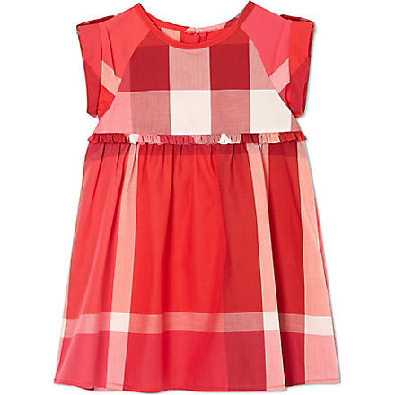 BURBERRY Checked cotton dress 6-36 months (Pink