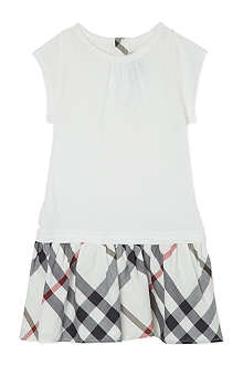 BURBERRY Checked skirt hero dress 4-10 years