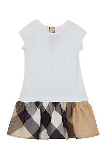 BURBERRY Checked skirt dress 3-36 months