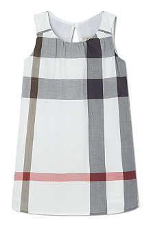BURBERRY Exploded check sleeveless dress 6-36 months