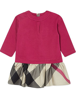 BURBERRY Checked skirt dress 3 months - 10 years