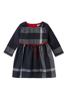 BURBERRY Checked belted dress 3-36 months