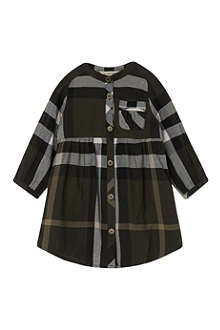 BURBERRY Checked collarless dress 3-36 months