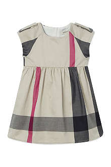 BURBERRY Mega check sleeveless dress 3-36 months