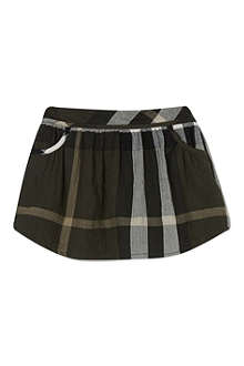 BURBERRY Exploded Checked belted skirt 3months-3years