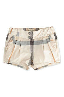 BURBERRY Burberry check shorts 3 months-3 years
