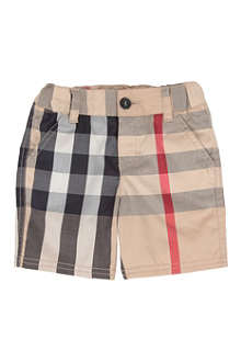 BURBERRY Classic check shorts 3 months-3 years