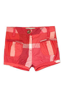 BURBERRY Pink checked shorts 6-36 months