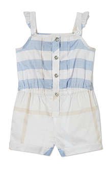BURBERRY Check playsuit 6 months-3 years