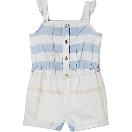 BURBERRY Check playsuit 6 months-3 years (Blue