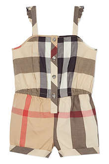 BURBERRY Nova check playsuit 6 months-3 years