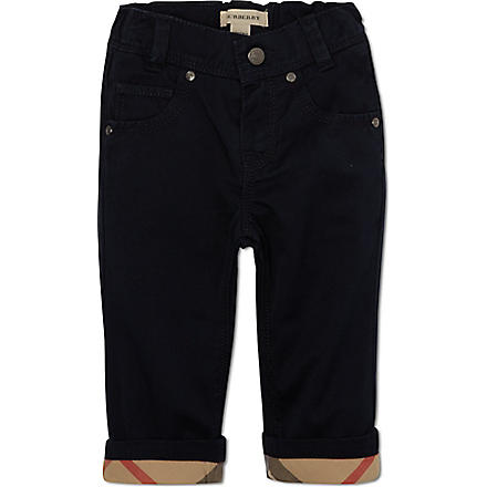 BURBERRY Turned-up trousers 6 months-3 years (Navy
