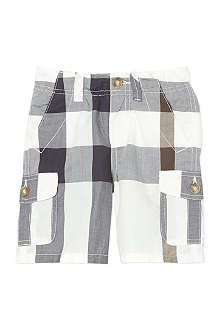 BURBERRY Exploded check combat shorts 6-36 months
