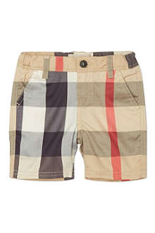 BURBERRY Classic check shorts 6 months-3 years