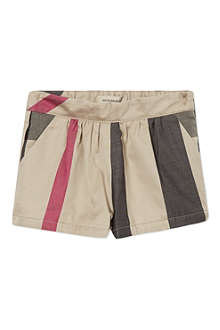 BURBERRY Mega check shorts 6-36 months