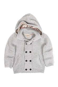 BURBERRY Knitted cardigan with hood 3 months-3 years