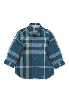 BURBERRY Poplin check shirt 3 months-3 years