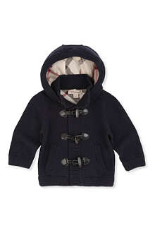 BURBERRY Toggle cardigan with hood 3 months-3 years