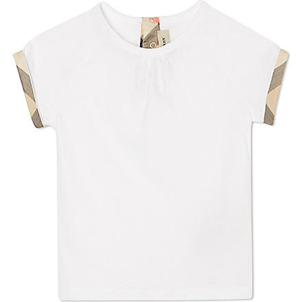 BURBERRY Nova trim sleeve t-shirt 6-36 months (White