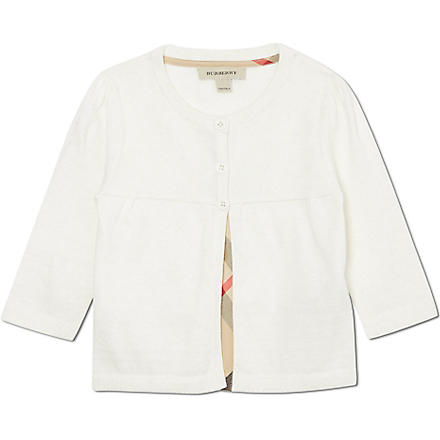 BURBERRY Classic shimmer cardigan 6 months- 3 years (Cream