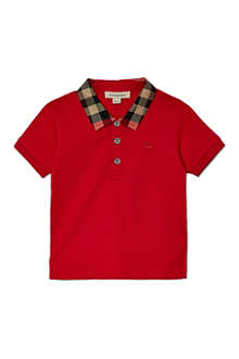 BURBERRY Checked collar polo shirt 6-36 months